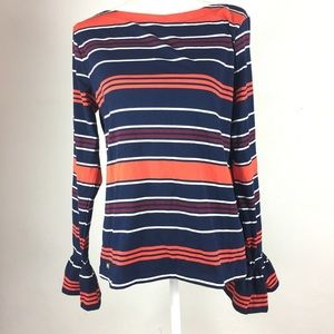 Tommy Hilfiger Tops - Tommy Hilfiger Navy Long Sleeve Striped Top XL
